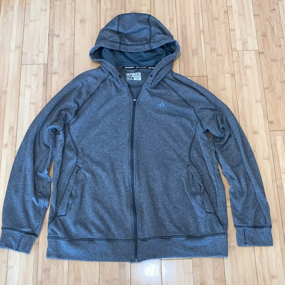 adidas Other - Adidas ultimate hoodie men's XL gray
